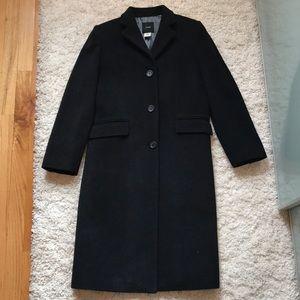 JCrew knee length dark gray pea coat